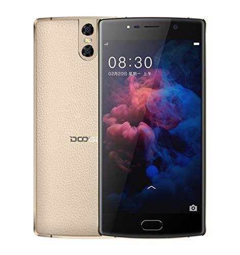 DOOGEE BL 7000-5.5 Zoll FHD 7.0 Android Smartphones mit 7060 MAH Akku Triple Texture + 13MP + 13MP + 13MP Digital Metall Körper Octa Core 4GB + 64GB, 12 V2A Schnellkalk - Gold