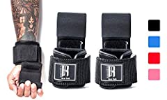 WEIGHT LIFTING HOOKS HEAVY DUTY DESIGN: Did your last pair of lifting straps just fail? It's time to get RIMSports' weight lifting straps hooks with strong double-sided stitching, industrial grade padded straps, and fortified metal hooks. These lifti...