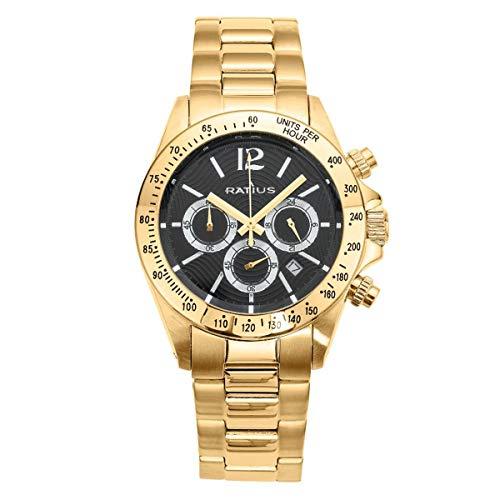 Ratius Herren Uhr 22.50175MGS.25 Chronograph vergoldet