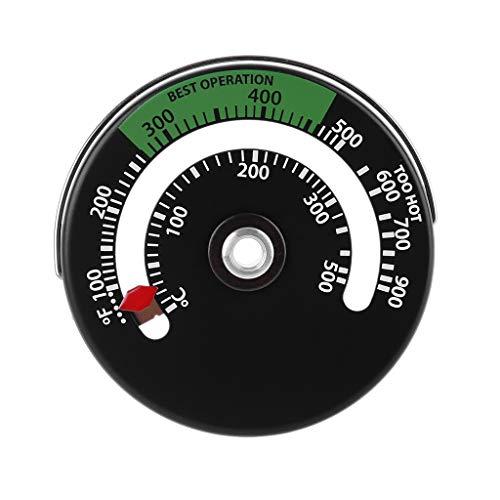 Geneic - Termómetro magnético para estufa, chimenea, monitor de temperatura para aumentar la eficiencia y optimizar el consumo de combustible
