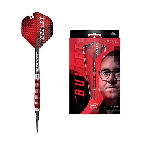 Target Darts Stephen Bunting 4. Gen. 90% Wolfram Softdarts-Set (18gr), Silber und Rot, 18 G