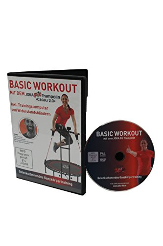 JOKA FIT Trainings-DVD, deutsch für Fitnesstrampoline, Basic Workout, 16765