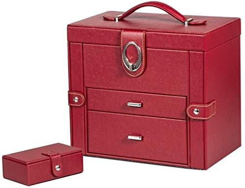 Joyas Cajas Cofre Joyas Cajas De Cuero Con Espejo Joyas Portátil Portátil Gran Capacidad Joyería Versátil Caja de exhibición Joyas Cajas de exhibición para niñas
