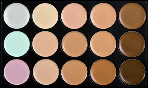 Injoyo 15 Couleurs Contour Maquillage Palette Crème Poudre Fondation Concealer Brush Kit Set - houppe à poudre goutte d'eau