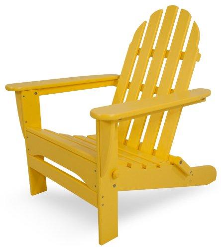 POLYWOOD AD5030LE Classic Folding Adirondack Chair, Lemon