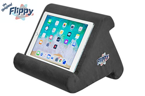 Flippy Multi-Angle Soft Pillow Lap Stand for iPads, Tablets, eReaders, Smartphones, Books, Magazines (Charcoal)