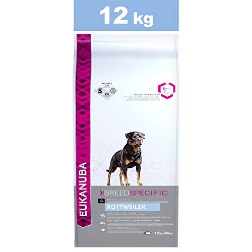 Eukanuba Croquettes Premium pour Chiens Rottweiler, Dogue de Bordeaux, Cane Corso, Dogue Argentin, Rhodesian Ridgeback - Recommandé par les vétérinaires - 100% Complètes et Equilibrées -Poulet - 12kg