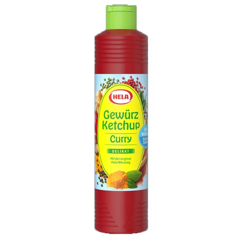 Hela - Gewürz Ketchup Curry Delikat (light) 30% weniger Zucker - 800ml