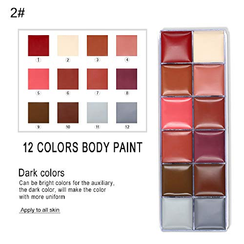 Face Body Paint IMAGIC Brand 12 Flash Colors case Halloween Party Fancy Dress Tattoo Oil Painting Art Beauty (1) …