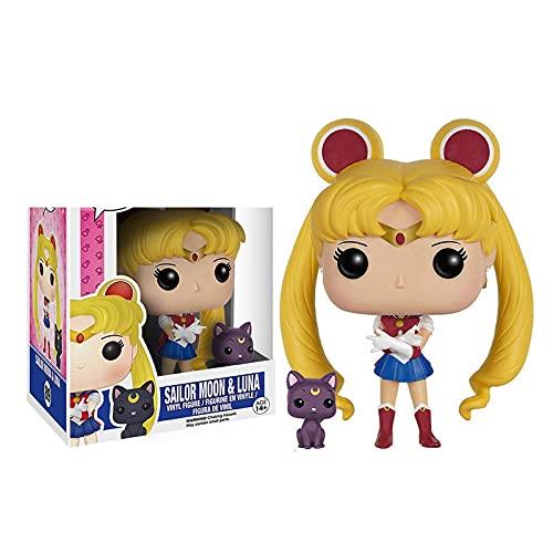 Anime Dibujos Animados Sailor Moon & Luna Colección De Figuras De Acción De Vinilo Juguetes Modelo para Niños