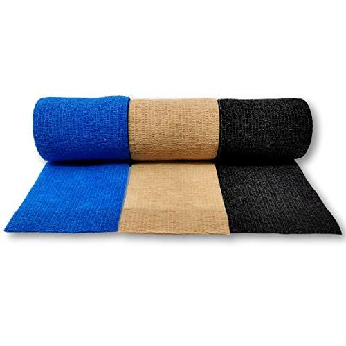 LisaCare Bandaż samoprzylepny, spójny plaster mocujący 7,5 cm x 4,5 m, materiał opatrunkowy, bandaże samoprzylepne (zestaw 3 szt.)