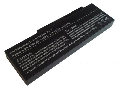Batterie LI-ION 4400mAh 10.8V noir compatible pour PACKARD BELL remplace BP-8089, BP-8089P, BP-8089X, BP-8389