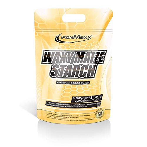 IronMaxx Waxy Maize Starch, Neutral – Weightgainer aus Wachsmaisstärke für den Masseaufbau – 1 x 2000 g Beutel