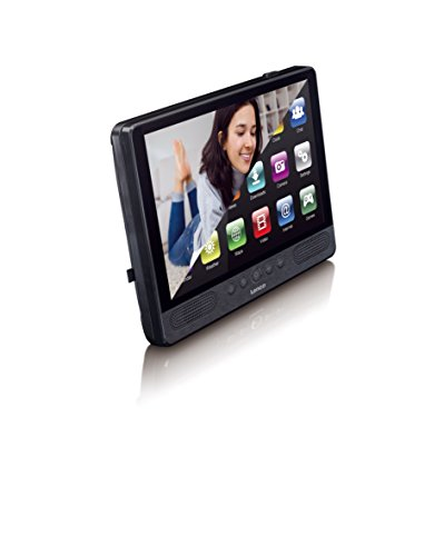 Lenco Andoid Tablet TDV-1000 mit DVD-Player (Android 7.0, Touchscreen, WiFi, USB, SD) 10 Zoll schwarz