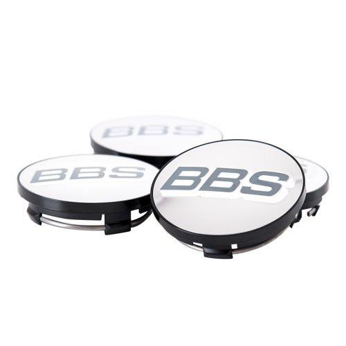 BBS Símbolo (1Juego de color gris y blanco de plata 70,6mm nabenabdeckung