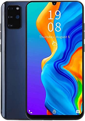 Smartphones desbloqueados, S20 + Android 5.1, teléfonos móviles con desbloqueo facial 3G Dual SIM, pantalla de gota de agua HD de 7.2 pulgadas, cámara dual frontal + trasera, 1GB / 16GB, extensión de