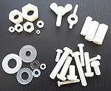 15 tuercas de nailon/plástico para tornillos M4, M5, M6, M8, 10 mm, 20 mm, 30 mm (tipo y tamaño a elegir), 15x M3x20mm Distanzmutter