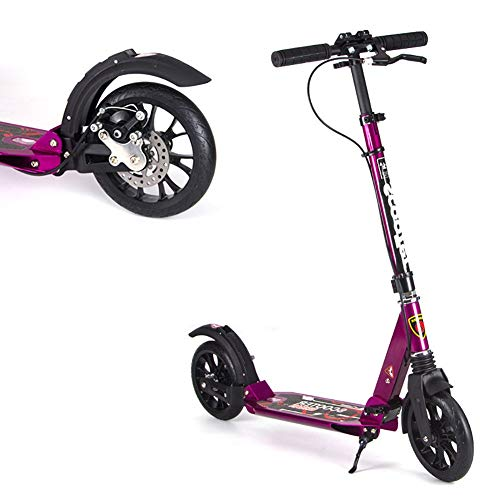 Best Price Scooter Kick Folding Adult Kick with Adjustable Handle Bar, Dual Suspension with Handlebr...