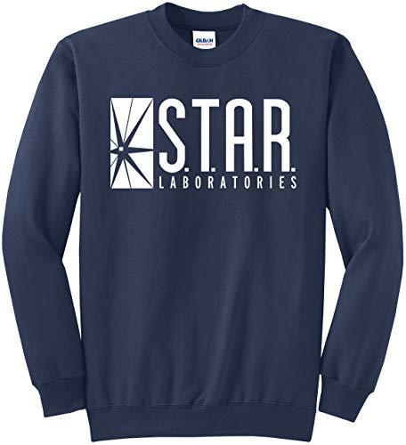 New York Fashion Police Star Labs Sweatshirt Star Laboratories Superhero Sweatshirt Navy M
