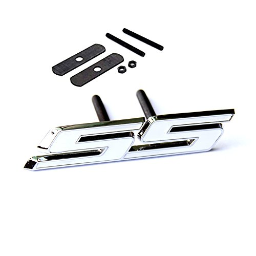 Yoaoo 1x OEM Grille Ss Emblem Badge 3D for Camaro Gm Series Front Chrome White