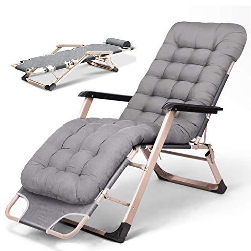 Unknow Fauteuils inclinables Sun Loungers - Fauteuil inclinable Pliant d'extérieur, Zero Gravity Chair avec Coussin de tête - Fabriqué à partir d'un Cadre en Acier pour la Piscine Patio G