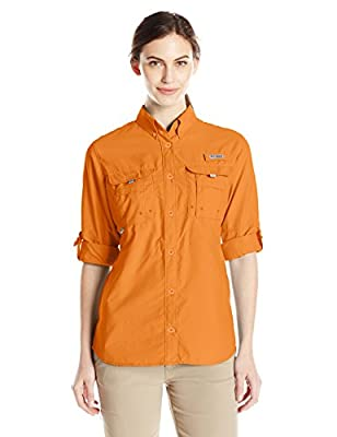 Columbia Women's Bahama Long Sleeve Shirt, Koi, Medium
