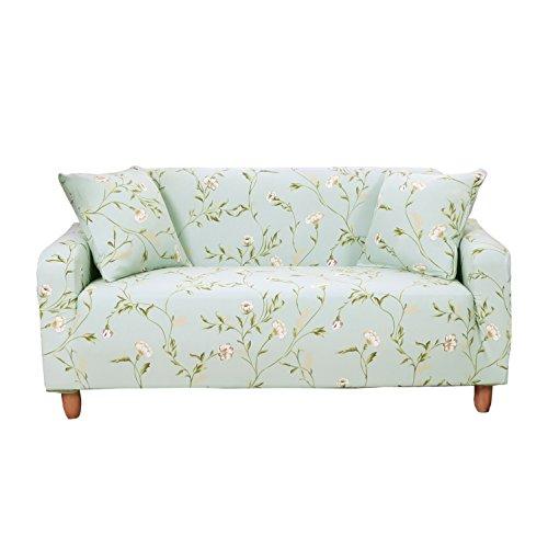 Sofa Überwürfe 2 Sitzer Sofabezug, Morbuy Elastisch Ecksofa L Form Stretch Antirutsch Armlehnen Sofahusse Sofa Abdeckung Hussen für Sofa Couchbezug Sesselbezug (2 Sitzer,Hellgrün)
