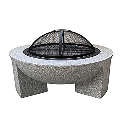 Fire Pit Outdoor Wood-Burning fire Pit, 30-inch Round Villa Courtyard fire Pit, Used for Outdoor Cooking and Barbecue by Lijack