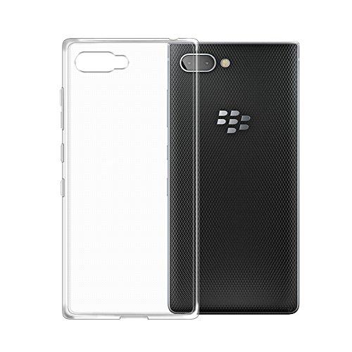 TOPACE Hülle für BlackBerry KEY2, TPU Hülle BlackBerry KEY2 Schutzhülle Durchsichtig Klar Silikon transparent für BlackBerry KEY2 (Transparent)