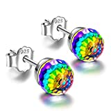 Alex Perry Regalo orecchini rosa policromatico cristallo argento 925 regali gioielli donna regali natale compleanno per le donne ragazze amica mamma lei