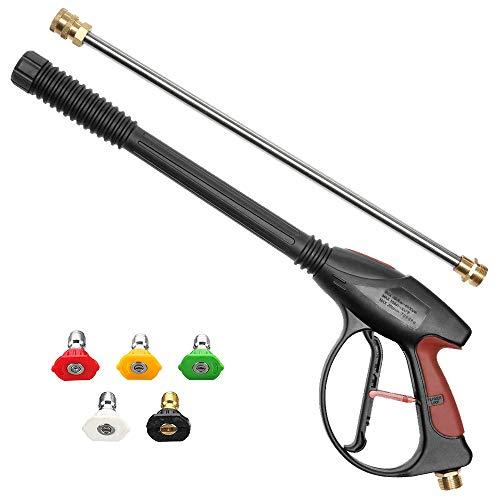 Achort Hochdruckreiniger 4000PSI 280bar High Pressure Auto Power Washer Gun Hochdruckpistole 5 TIPS