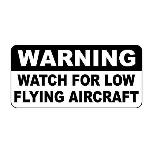 Waarschuwingshorloge voor laagvliegende vliegtuigen Vintage stijl metalen bord - 8 X 12 In