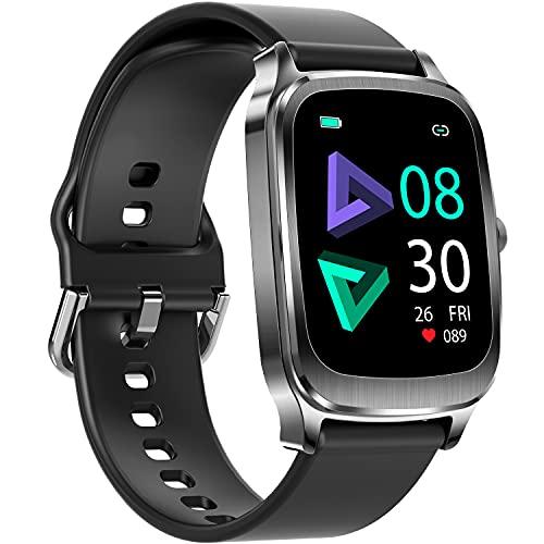 Smartwatch, 1,65   Touch Schermo Orologio Fitness Uomo Donna Activity Tracker, Impermeabile IP67 Smart Watch Cardiofrequenzimetro da Polso Contapassi, Notifiche Messaggi Controller Fotocamera Musicale