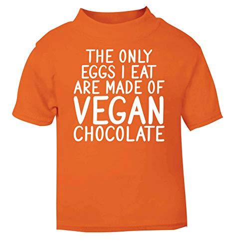 Flox T-Shirt créatif pour bébé Only Eggs I Eat Vegan Chocolat - Orange - 2 Mois