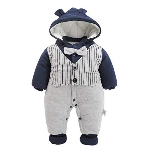 Bebé Mono Caballero Mameluco Invierno Traje de Nieve Espesar Peleles Pijama Ropa de Bautismo Boda Fiesta