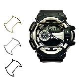 Supachis CASIO G-SHOCK GA400 に対応 腕時計アクセサリー バンパー ダイヤル保護 防錆 耐衝撃アクセサリー 保護バンパー ステンレスバンパー 3色可選 (シルバー)