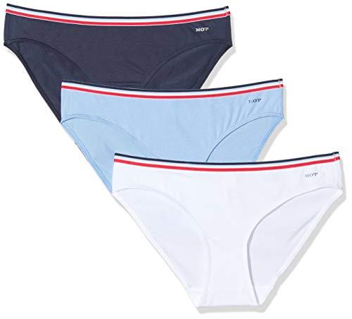 Marc O'Polo Body & Beach Damen Multipack W-Mini 3-Pack Brazilian Slip, Blau (Air 802), 38 (Herstellergröße: M) (3er Pack)