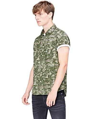 Amazon-Marke: find. Herren Freizeithemd, Grün (Khaki Palm), XL, Label: XL