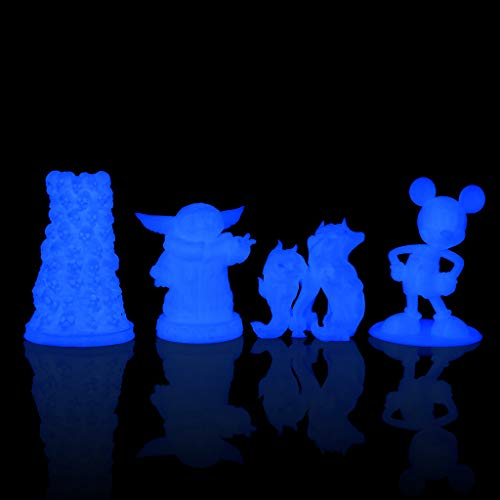 Product Image 6: AMOLEN Glow PLA Filament 1.75mm,Glow in The Dark,Deep Blue,3D Printer Filament,Creative Gift for Kid,1KG