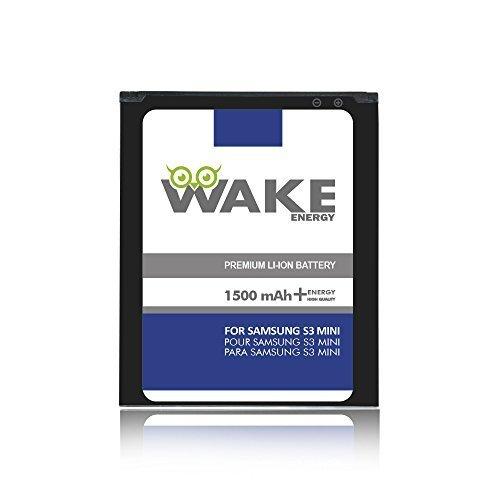 S3 Mini Battery, WAKE 1500 mAh Replacement Battery for Samsung Galaxy S3 Mini i8190 / GT-i8200 (EB-F1M7FLU) WAKE Brand