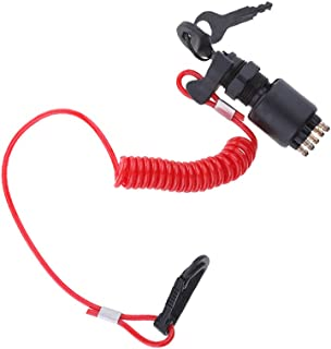 BESPORTBLE 1 Set Substituição Chave Do Interruptor De Ignição E Fio de Corda De Segurança Botão de Arranque para Motores D...