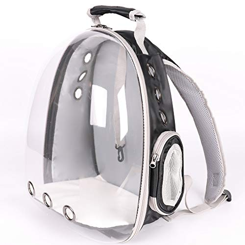 Lyn's Pet Carrier, Hard-Sided Pet Bag, Cat/Dog Bubble Backpack, Pet Travel Bag, Small Space Pet...