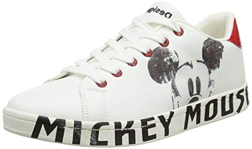Desigual Womens Shoes_Cosmic_Mickey Sneaker, White, 40 EU