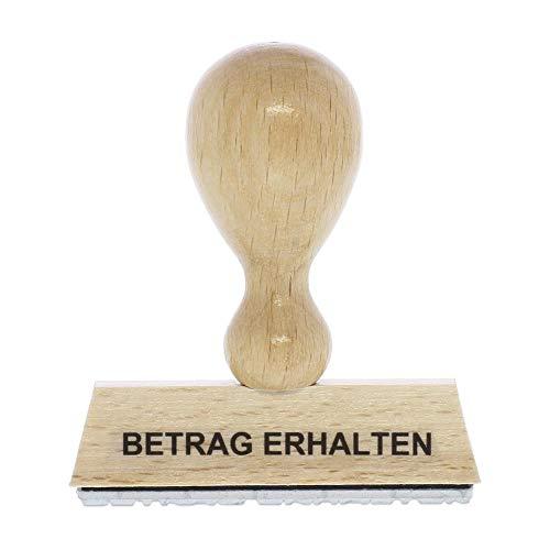 Holzstempel BETRAG ERHALTEN (60x10 mm - 1 Zeile)