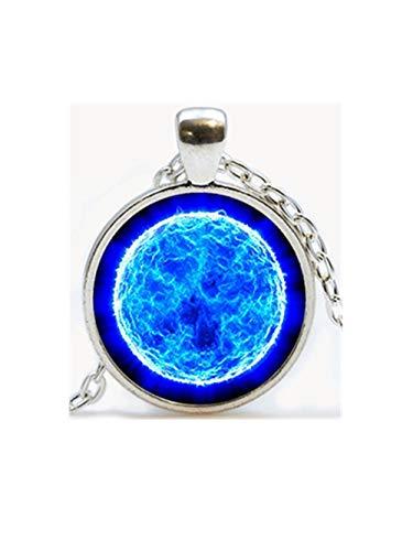 Blauer Sonnenglas Anhänger Galaxy Halskette