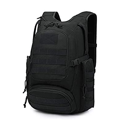 Mardingtop 25L Tactical Backpacks Molle Hiking daypacks for Camping Hiking Military Traveling Motorcycle Black