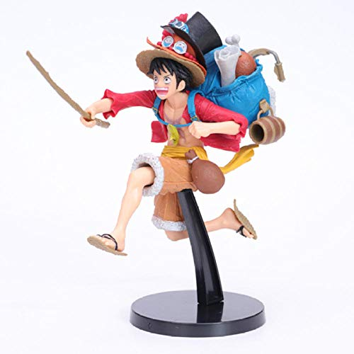 Anime Standbeeldanime One Piece Monkey D Luffy Met Rugzak Running Statue Pvc Action Figure Collectible Model Kids Toys Doll Gift