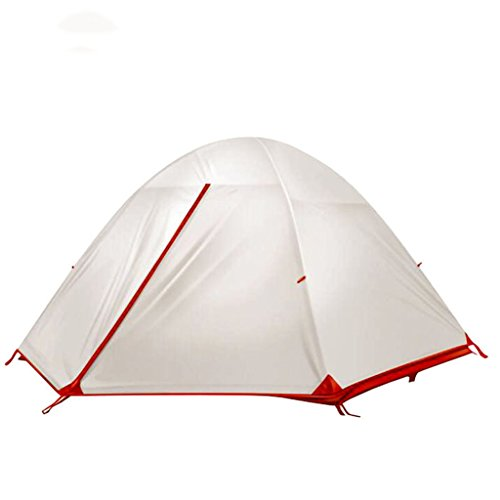 XINGQIANRU Outdoor Nylon 15D Silicone Double Double Light Rainproof Camping Tent With Accessories Net Weight 2.0Kg