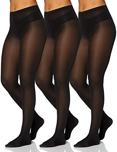 Iris & Lilly by Wolford Medias Mujer, Pack de 3, Negro (Black), XS, Label: XS