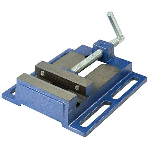 HRB Maschinenschraubstock Spannweite 125 mm, Schraubstock, für Bohrmaschine, Tisch-Schraubstock (Spannweite 125mm)
